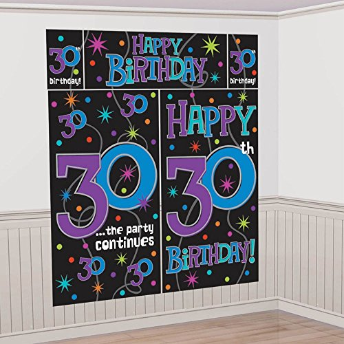 The Party Continues - 30 Scene Setters Wall Decorating Kit