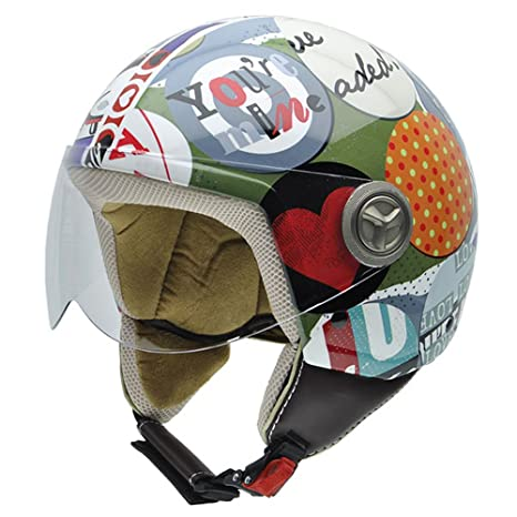 NZI 490035G664 Zeta Collage by Pucca Casque de moto 52-53 (XXS) Dessins et logos Pucca