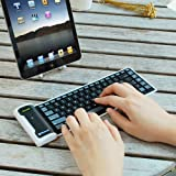 IKross Bluetooth Wireless Foldable Silicone Keyboard for Acer ICONIA B1-710, ICONIA W3-810, ICONIA A1-810, ICONIA TAB A211, W510, W700, A210, A700, A510, A200, A500, W500 Tablet Cellphone and more