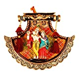 MSC Krishna and Radha wall hanging (Poly Resin, Length: 9.5 x Width 11.5 IN)