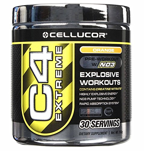 C4 Extreme Orange By Cellucor - Explosive Pre-Workout Supplement - 30 Servings
