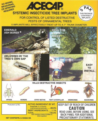 how to kill gypsy moth larve high in trees