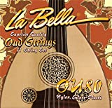 La Bella Oud Set Plain Nylon - Silver-Plated Wound on Nylon