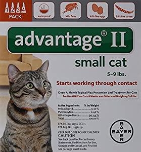 Bayer Advantage II, Small Cat, 5 to 9-Pound, 4-Month