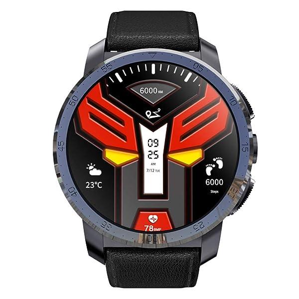 Elevin(TM)  KOSPET Optimus Pro 3GB+32GB AMOLED 4G Dual Chip 8.0MP 800mAh SmartWatch Phone (Black) (Color: Black, Tamaño: Standard)