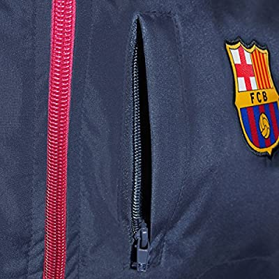 FC Barcelona Official Soccer Gift Mens Shower Jacket Windbreaker