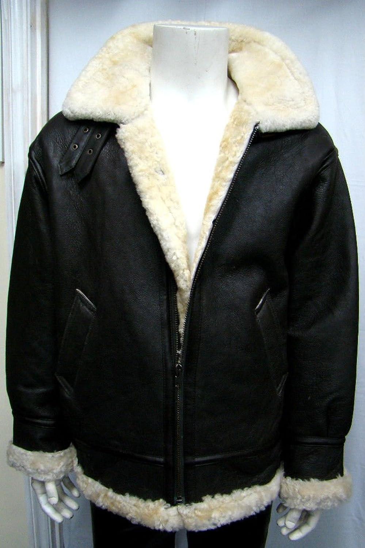 b3 Mann braun mit cremePelzursprünglichen Schafe Haut Pilot avaitor warme Jacke jetzt bestellen