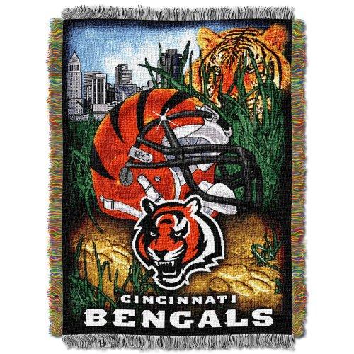 Nfl Cincinnati Bengals Acrylic Tapestry Throw Blanket front-504893