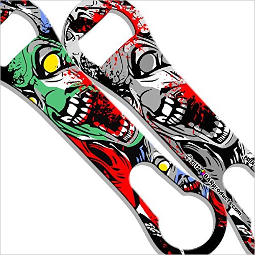 BarConic Painted Zombie V-rod® Bottle Opener