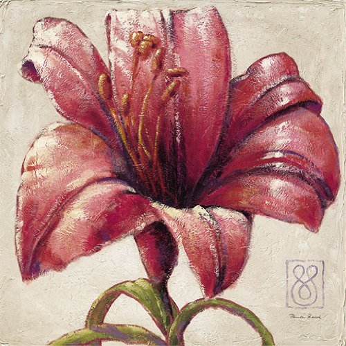 eurographics-pre1010-stampa-artistica-red-lily-bloom-di-paula-reed-70x70-cm