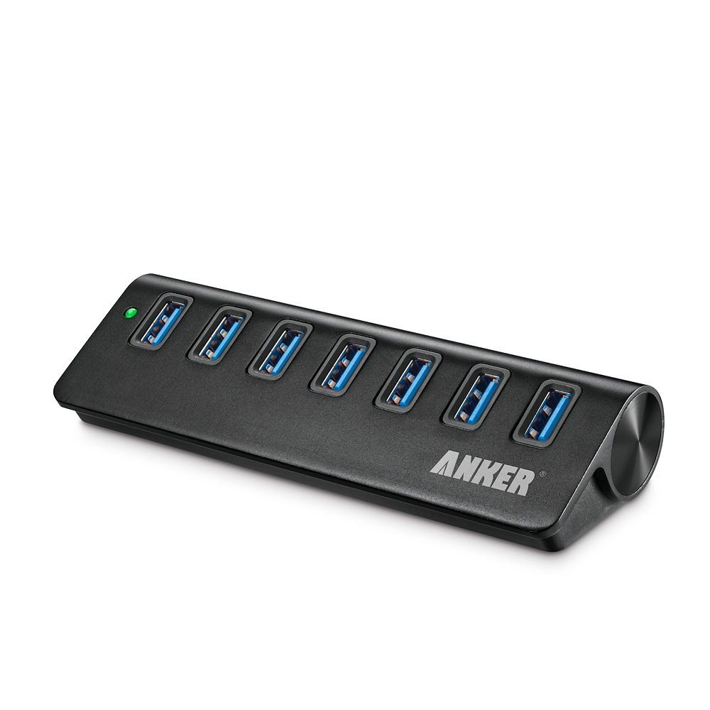 Anker USB 3.0 7-Port Portable Aluminum Hub with 5V 4A ...