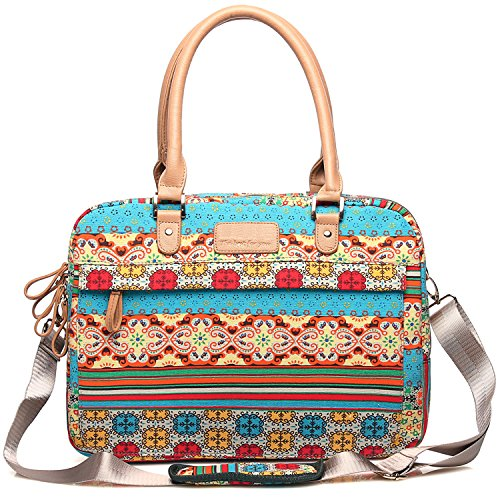 kaxidy-mujer-estilo-bohemio-impreso-lienzo-156-pulgadas-maletines-maletin-bolso-cartera-cuero-bolsa-