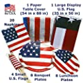 Made in the U.S.A Independence Day Patriotic and Convenient 4th of July Party Supplies. Gift Idea for New U.S. Citizens - 6 items bundle.