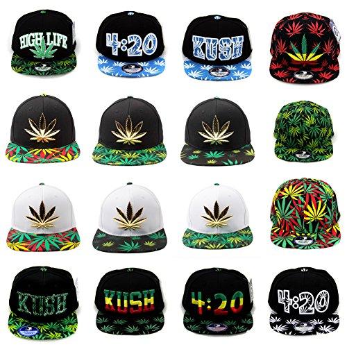 Cap2shoes-Marijuana-Weed-Leaf-Cannabis-Snapback-Hat-Cap