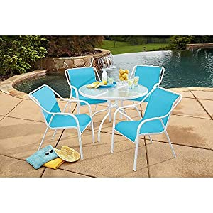 Garden Oasis Hamlin Steel 5 Piece Sling Patio Furniture Set Pool Outdoor Living Powder-coated Finish Durable and Comfortable Easy to Assemble