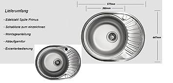 Edelstahlspule Leinen Oval Kuchenspule Einbauspule Spule Spulbecken