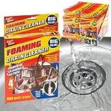 4 x FOAMING DRAIN PIPE CLEANER UNBLOCKER SINK SHOWER BATH BATHROOM KITCHEN HOME