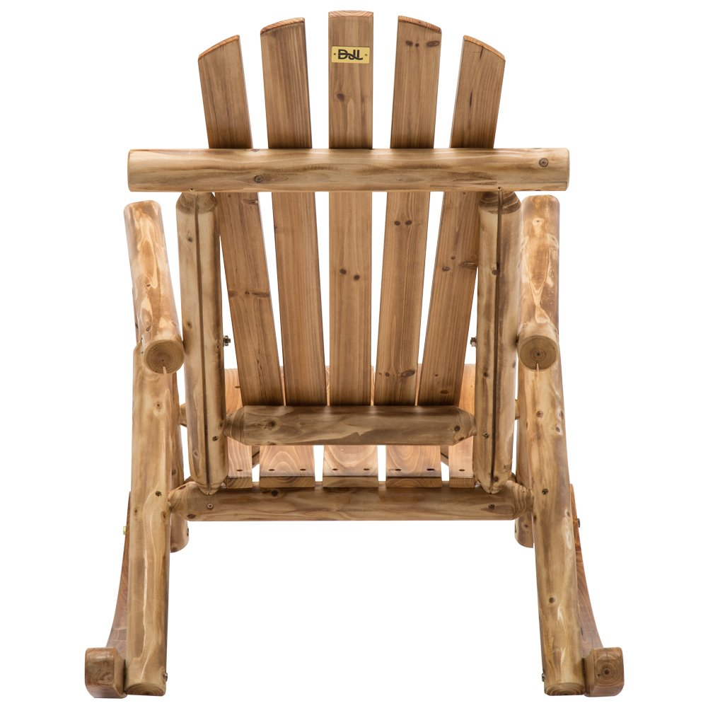 Antique Wood Outdoor Rocking Log Chair Wooden Porch Rustic