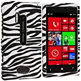 Accessory Planet(TM) Black / White Zebra Hard Snap-On Design Rubberized Case Cover Accessory for Nokia Lumia 928
