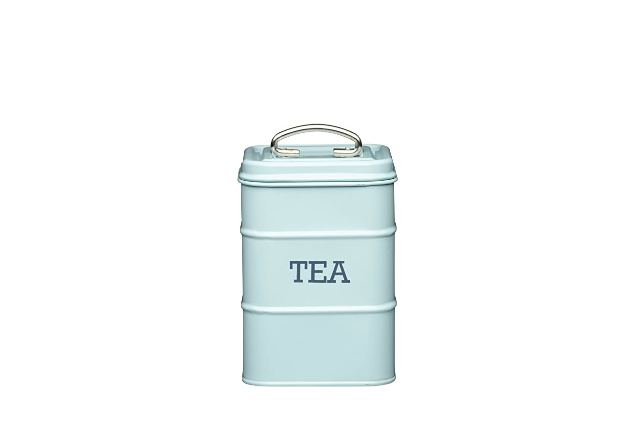 KitchenCraft Living Nostalgia Vintage Metal Tea Teabag Storage Tin in Blue LNTEABLU 0