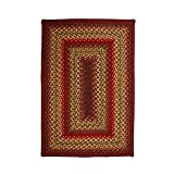 Homespice Rectangular Jute Braided Rugs, 2-Feet 6-Inch by 6-Feet, Cider Barn