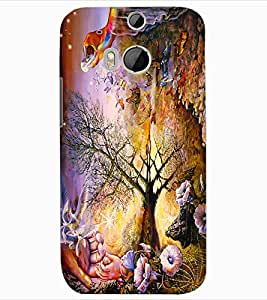 ColourCraft Creative Art Design Back Case Cover for HTC ONE M8