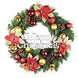 クリスマスリース 直径約50cm インテリア 玄関飾り ディスプレイに