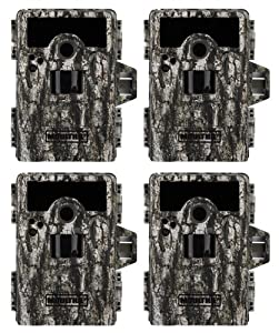 4 MOULTRIE Game Spy M-990i No Glow Infrared Digital Trail Hunting Cameras - 10MP by Moultrie