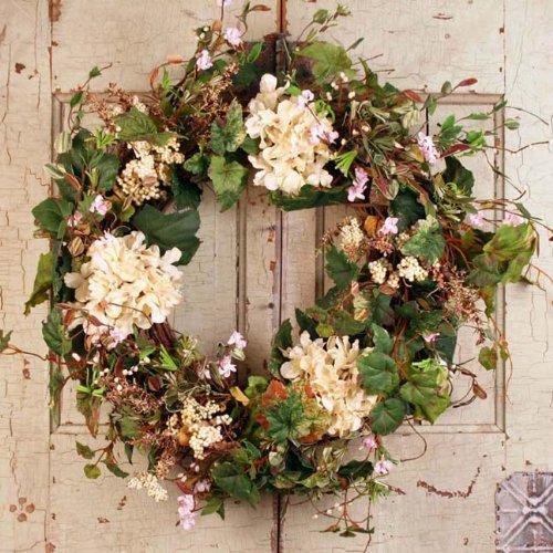 Summer Garden Spring Door Wreath 22 in (Spring Wreaths Outdoor compare prices)