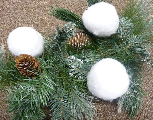 MQ 6 x Weihnachtskugeln Schneeball