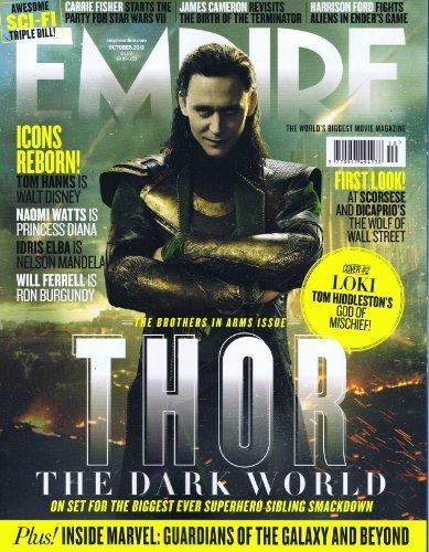 EMPIRE 2013年10月号 「Thor:The Dark World」ロキ(トム・ヒドルストン)表紙
