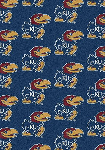 Kansas Jayhawks NCAA Milliken Team Repeat Area Rug (10'9