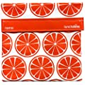 Lunchskins Reusable Sandwich Bag, Tangerine Orange