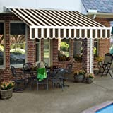 Awntech 20-Feet Destin LX with Hood Right Motor/Remote Retractable Acrylic Awning, 120-Inch Projection, Burgundy... at Sears.com