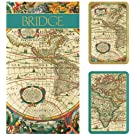 Bridge Gift Set Two Card Decks and Bridge Score Pads Maps