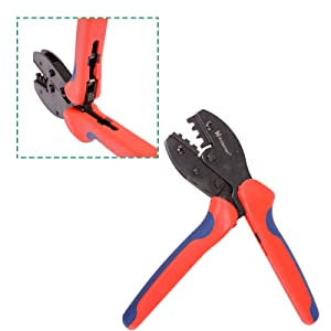 Voilamart MC4 Crimping Tool PV Solar Panel Crimper for 2.5mm² 4mm² 6mm², Wire Terminal Crimping Connectors Cable Pliers