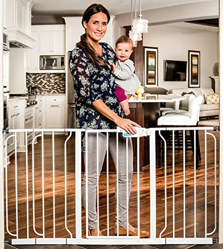 Regalo Extra WideSpan Walk Through Safety Gate, White (Extra Tall Pressure Mount Gate compare prices)