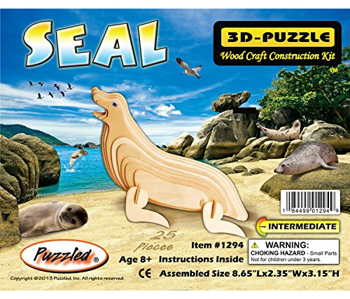 Puzzled Item #DPUZ1294 Seal Affordable Gift for your Little One! 3D Wooden Puzzle - 1