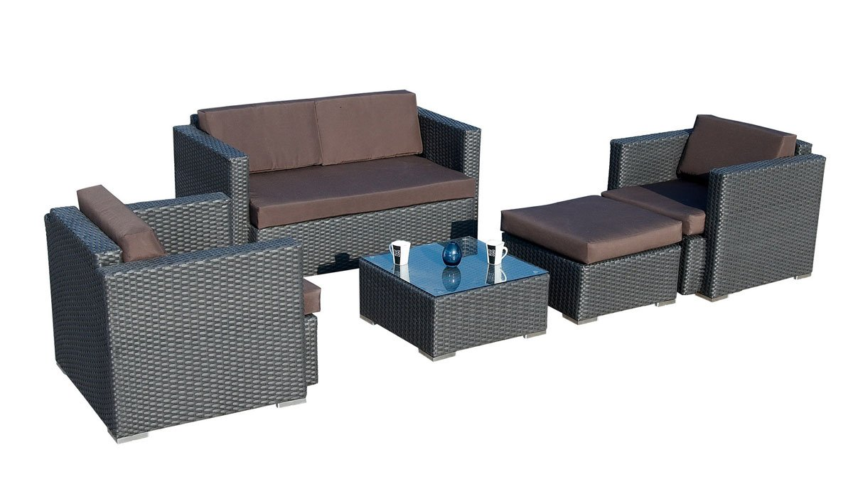 ambientehome polyrattan loungegruppe sitzgruppe java. Black Bedroom Furniture Sets. Home Design Ideas