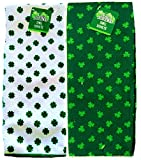 St. Patrick s Day Shamrock Towels Set of 2 Green and White