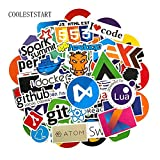 73Pcs/Lot Developer Docker Stickers Hacker CSS Programmer SQL Cool Stickers for Luggage Fridge Laptop Guitar Waterproof Stickers