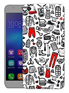 """Humor Gang Baby Clothes Pattern Printed Designer Mobile Back Cover For """"Huawei Honor 6"""" (3D, Matte, Premium Quality Snap On Case)"""