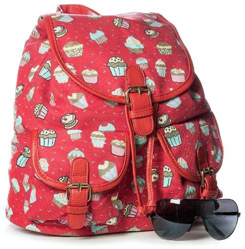 Big Handbag Shop, Borsa a zainetto donna One, Rosso (rosso), One