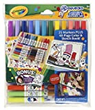 Crayola Pipsqueaks Wallet (25 washable markers and stickers set with 40 page sketchbook)