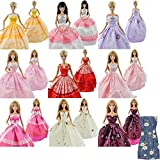 E-TING Lot 5 Fashion Handmade Clothes Dresses Grows Outfit for Barbie Doll