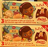 2 Boxes (6 Eggs) Disney Pixar DOC McSTUFFIN Chocolate, Free Gift