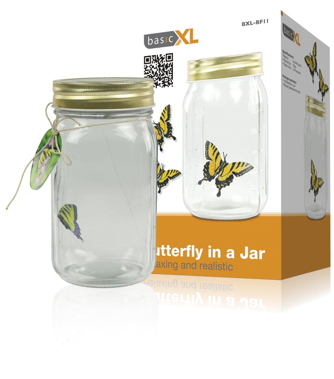 basicXL BF-11 - Figura decorativa de mariposa en un tarro  Hogar más información y comentarios