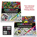 Set of 2 Adults Colour Therapy Anti-Stress Pattern Colouring Books 384030