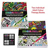 Set of 2 Adults Colour Therapy Anti-Stress Pattern...