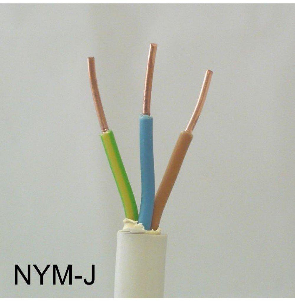 Mantelleitung PVC grau NYMJ 3x2,5 Ring 100m   Bewertungen und Beschreibung